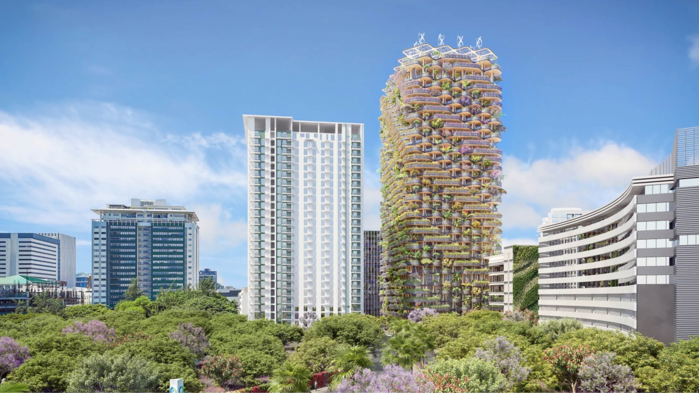 """Featured image for """"Over 30,000 plants, shrubs and trees would grow from 377-ft timber tower"""""""