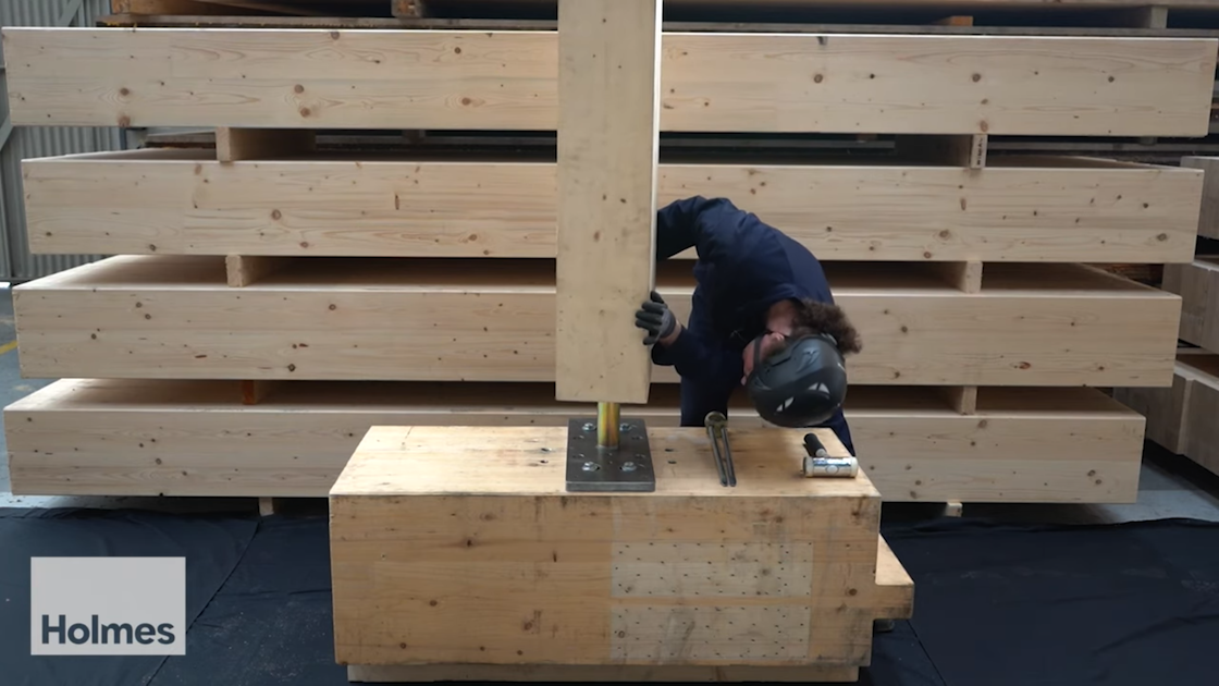 """Featured image for """"Mass Timber Column to Column Connection Demo"""""""